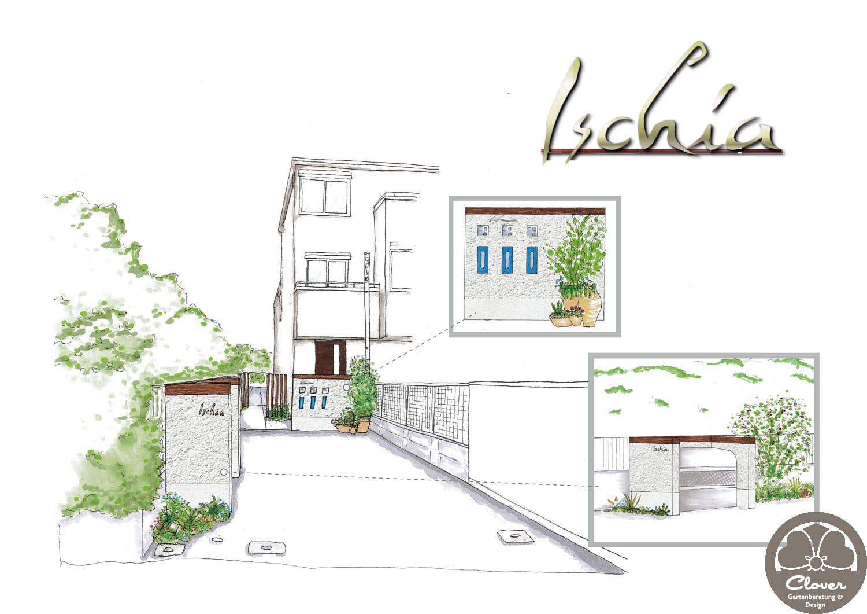 Hauseingang mit Ischia Feeling