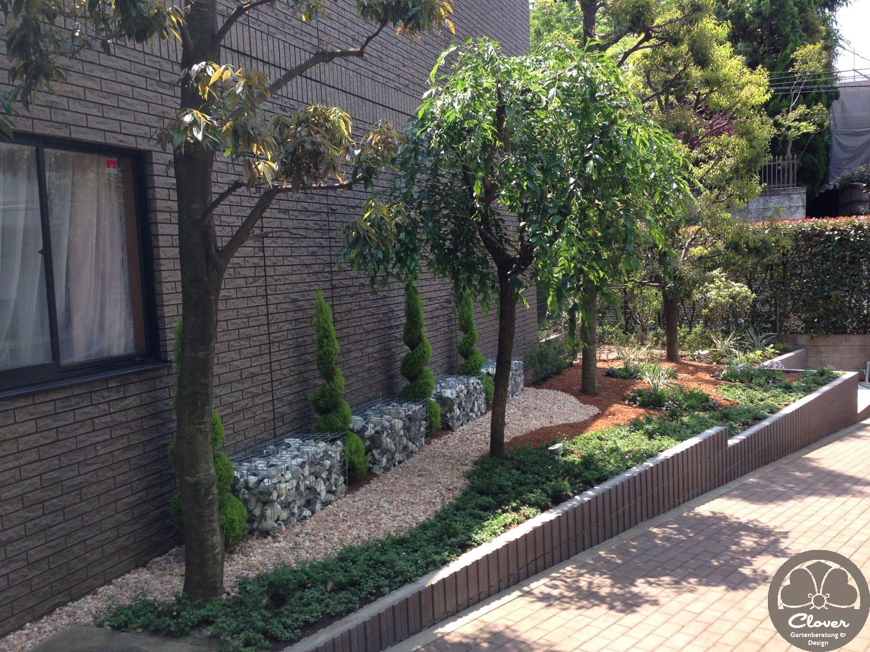 Gärten einer Wohnanlage