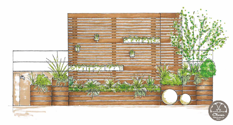 Balkon eines Einfamilienhauses